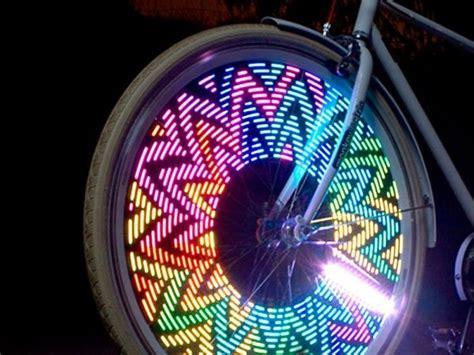 bicycle spoke lights by monkeylectric bike