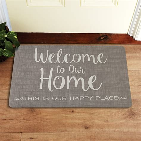 Welcome To Our Home Doormat - personalized doormats welcome mats personal creations
