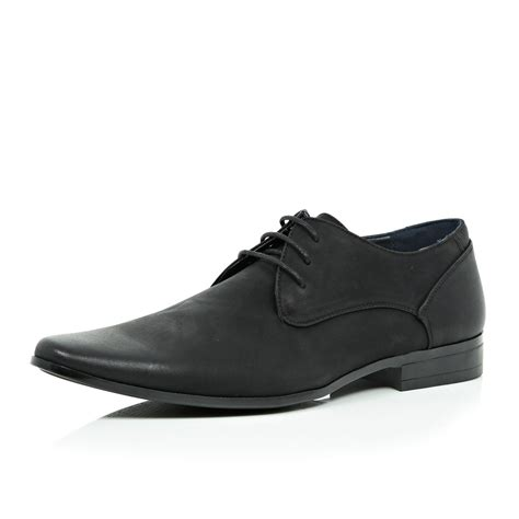 river island shoes river island black smart shoes in black for lyst