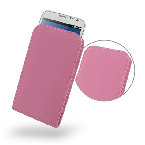 Pink Pouch samsung galaxy note 2 leather sleeve pouch petal pink pdair