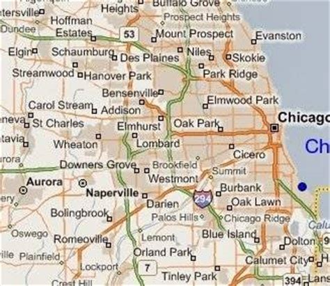 chicago mapa mapas de chicago illinois planos calles barrios