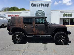 Wrapped Jeep Courtesy Motor Sales Jeep Wrangler Rust Wrap Wrapfolio