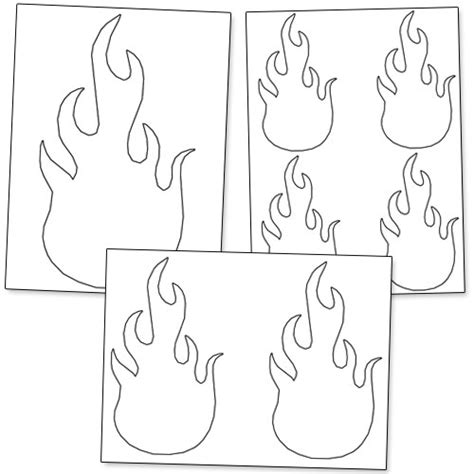flames template cut out pictures to pin on pinsdaddy