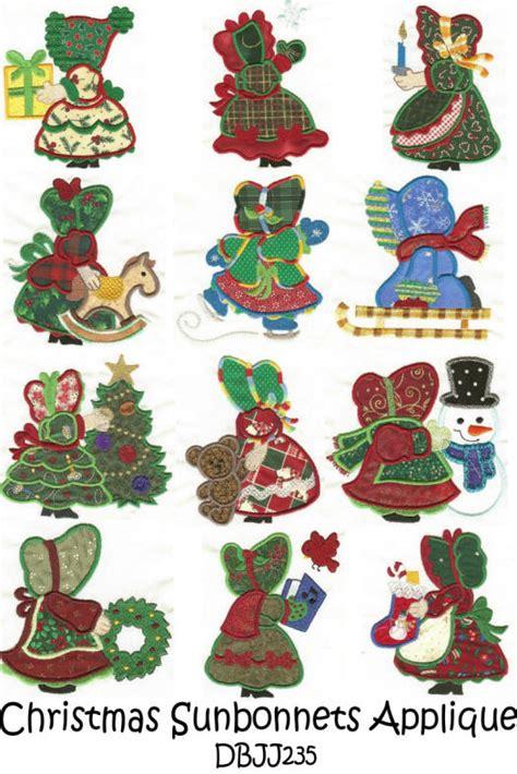 patterns for christmas appliques sunbonnet sue designs on pinterest sunbonnet sue