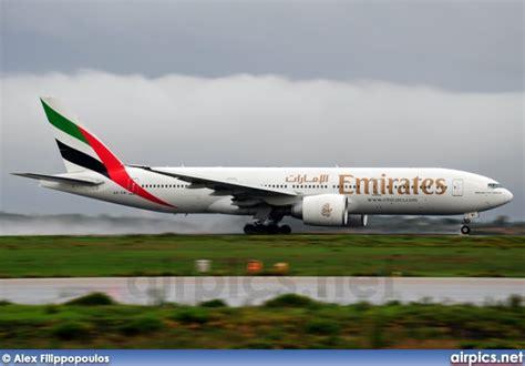 emirates ek 357 airpics net a6 ewi boeing 777 200lr emirates medium size