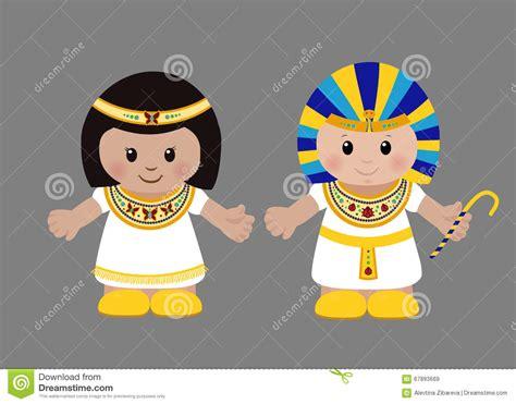 imagenes egipcias animadas pharaoh and cleopatra in ancient egyptian clothing stock