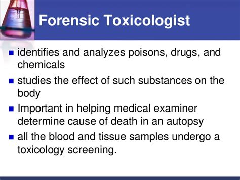 forensic toxicology chemical evidence