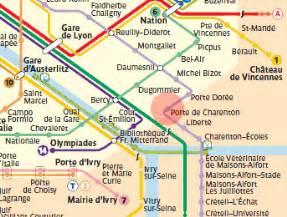 porte de charenton station map metro