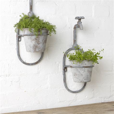 Wall Planters by Vintage Style Single Tap Wall Planter By Posh Totty