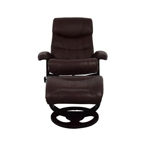 comfortable chair with ottoman brown leather recliner eve leather recliner with ottoman