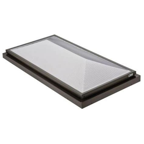 sunoptics skylight prismatic 2 ft x 4 ft fixed curb