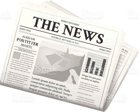 A News Paper - newspaper folded stock vector 158578801 istock