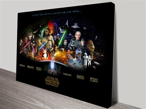 Wall Word Art Stickers star wars characters art framed wall art pictures