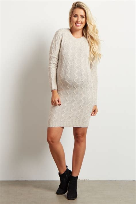 how to knit dress ivory cable knit maternity sweater dress