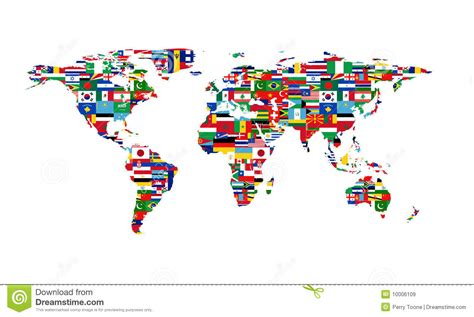 world map with country name and flag world flag map stock vector image of africa eurasia