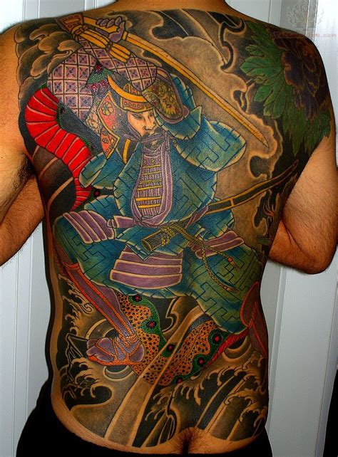 japanese back tattoo samurai tattoos page 19