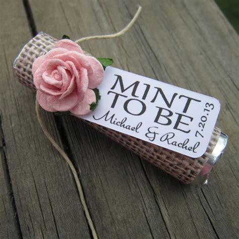 Wedding Favors Mints mint wedding favors set of 24 mint rolls by