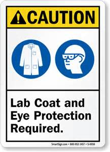 Lab coat and eye protection required sign sku s 6958 mysafetysign
