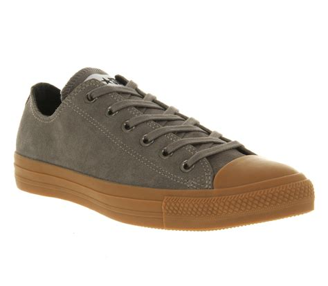 Sepatu Converse All Chuck Ii Black Sole Gum converse all ox low grey suede gum sole