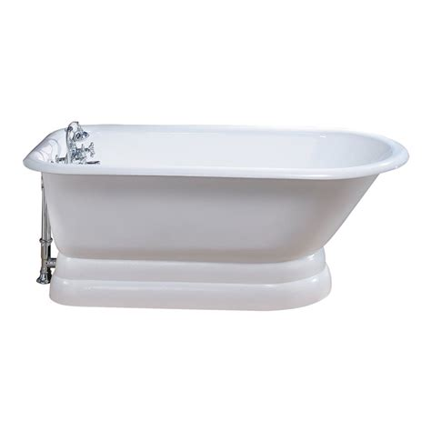traditional bathtubs cheviot 211 traditional pedestal soaking bathtub lowe s