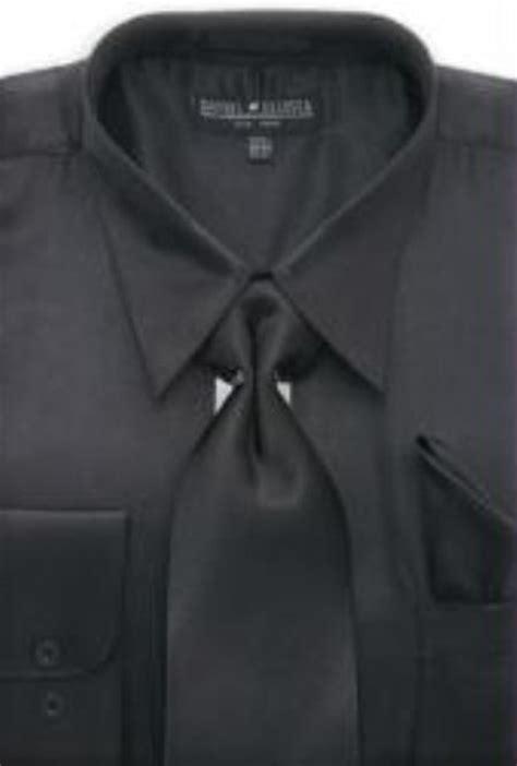 sku ma171 men s black shiny silky satin dress shirt tie 59