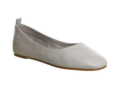 gray ballet flats womens shoes womens office primrose ballerina flats grey leather flats