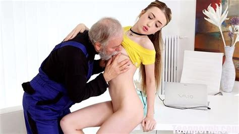 Oldgoesyoung Vlada Gets Her First Taste Of Old Man Cock