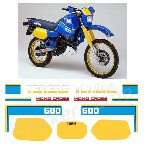 Sticker Yamaha 600 Xt kit adesivi carena tener 232 xt600z stickers compatibili xt