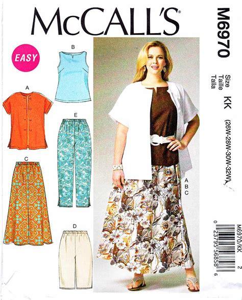 sewing pattern plus size mccalls sewing pattern 6970 m6970 womens plus size 26w 32w