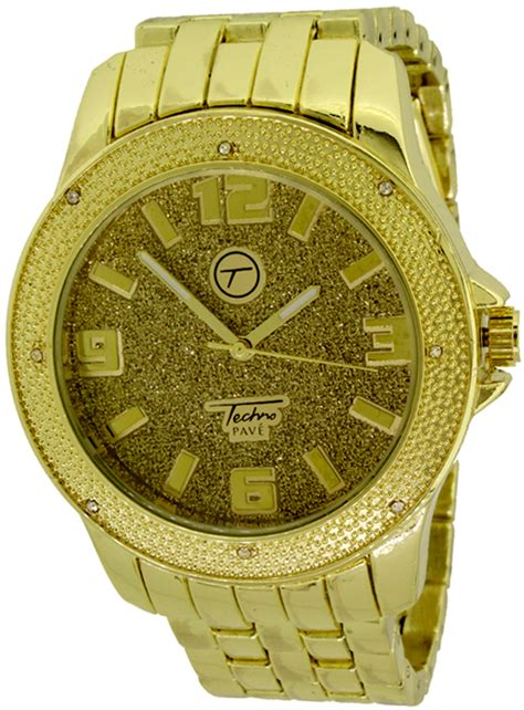 hip hop gold by techno pave techno pave watches