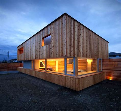 modern log cabins home by masaaki okuno