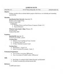 Soccer Player Resume Sle by Coaching Soccer Resume Sales Coach Lewesmr