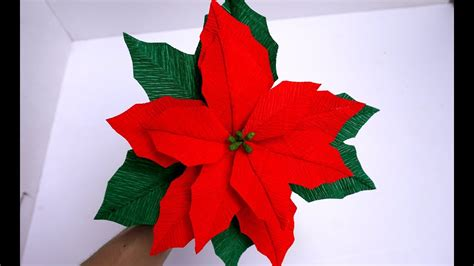 Paper Poinsettia Craft - how to make tissue paper flowers look real poinsettia