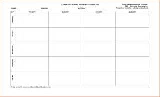 Free Printable Blank Lesson Plan Template by 8 Free Printable Lesson Plan Template Bookletemplate Org