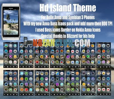 themes nokia n8 belle hd hd island theme for nokia n8 other belle smartphones