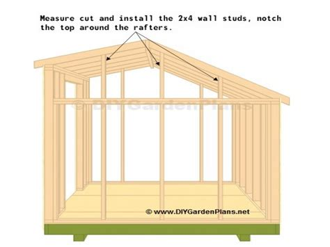 10x12 Shed Plan by Saltbox Shed Truss Plans Storage Shed Plans 10x12 Saltbox