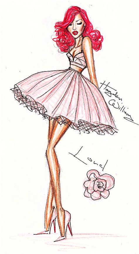 More Cavalli Design Sketches For Spice Tour The Union Is Back by Rihanna Loud Fashion Illustration By Hayden Williams