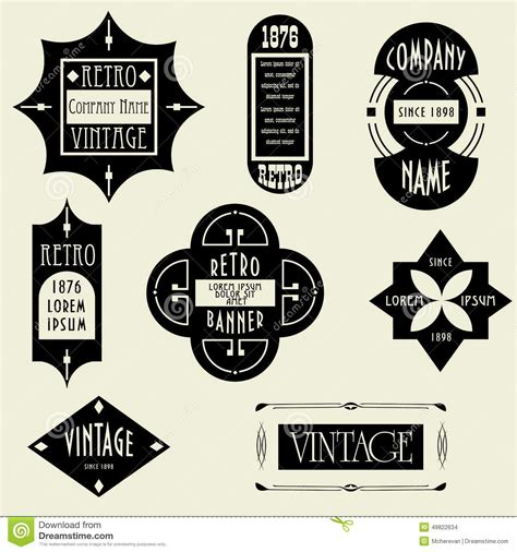 label graphic design vintage design elements labels in retro and vintage style
