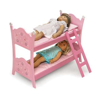 Badger Basket Doll Bunk Beds With Ladder Badger Basket Blossoms And Butterflies Doll Bunk Beds With Ladder