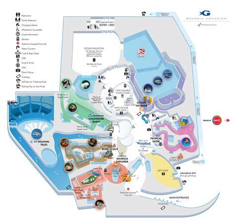 georgia aquarium floor plan zoos atlanta aquarium