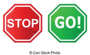 Stop and go sign in illustration vector clip art - Search ... Go Sign Clip Art