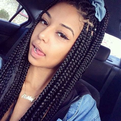 show different styles of braided hair box braids hairstyles hairstyles with box braids