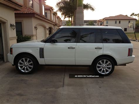 land rover white 2008 range rover supercharged white