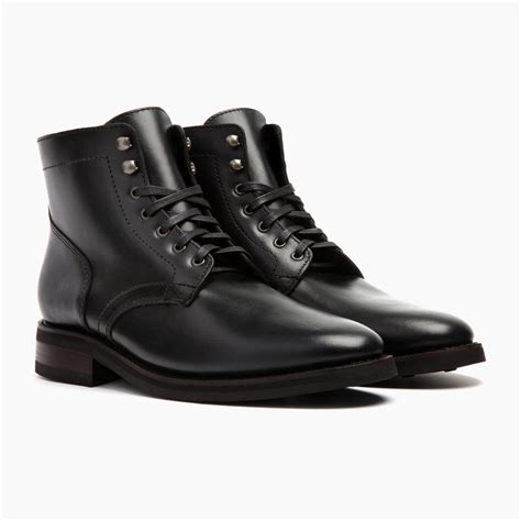 mens black leather boots black president boot thursday boot company