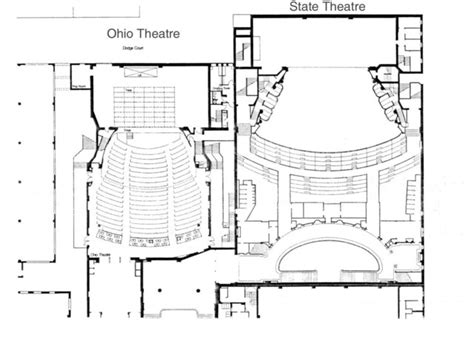 theater floor plans ohio theatre in cleveland oh cinema treasures