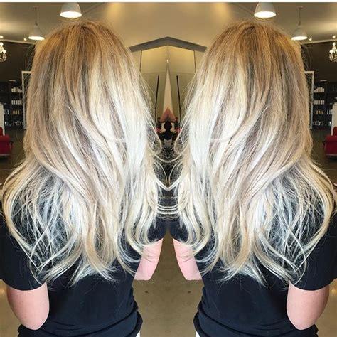 blonde hairstyles long layers sorta straight sorta wavy long platinum blonde layered