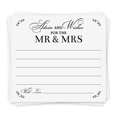 Wedding Wishes And Advice Cards by Advice Cards Advice For The Wedding Advice Cards