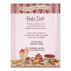 Cupcake cakes and treats bake sale flyer zazzle