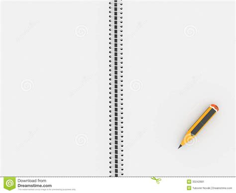 sketch book with pencil sketch book with pencil stock image image 33242681