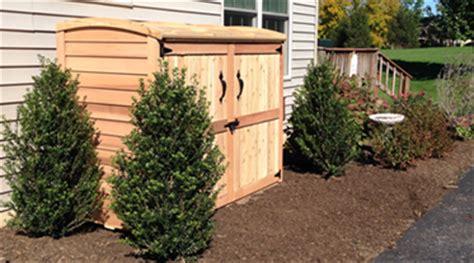 cedar outdoor garbage  storage bins  enclosures